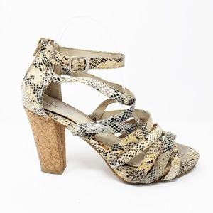 Kenneth Cole Strong Daze Snake Strappy Heels
